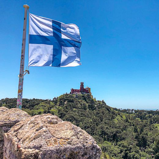 Look for a Sintra day tour from Lisbon that includes access to the Moorish Castle for the most amazing views over Pena Palace
