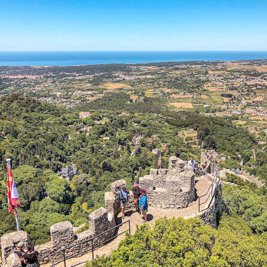 The most spectacular day trips from Lisbon include a visit to the Sintra mountains