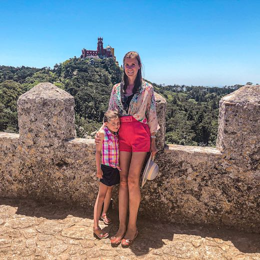 Reaching the top of the Moorish Castle was the highlight of our Sintra one day itinerary