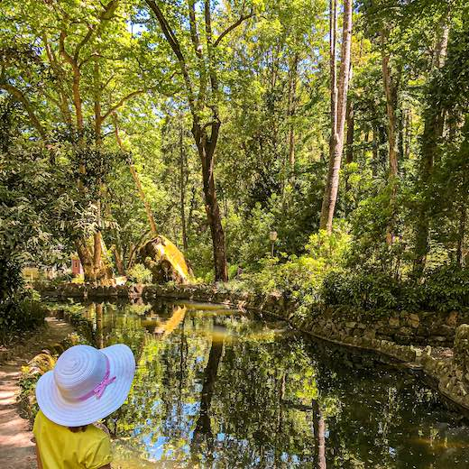 What to do in Sintra other than visiting the castles, is exploring the beautiful parks and gardens