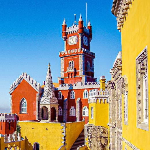 Pena Palace is the highlight of every one day Sintra itinerary
