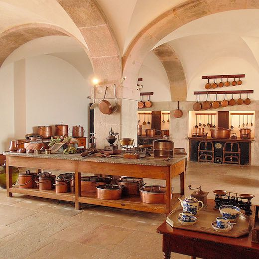 Kitchen of Pena Palace in Sintra