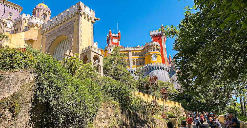 Pena Palace Sintra is the highlight of this Lisbon Sintra full day itinerary