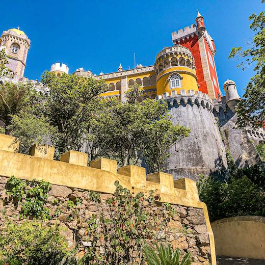 A day trip to Sintra is not complete without a visit to Pena Palace and Park