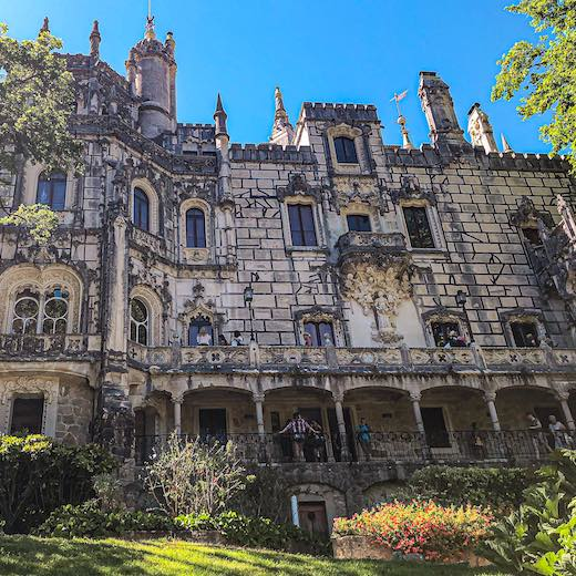 Palace of Quinta da Regaleira in Portugal