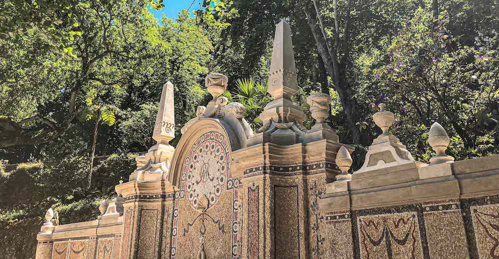 Whimsical features in the gardens of Quinta da Regaleira