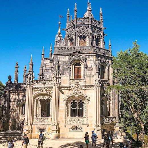 One of the buildings in the Quinta da Regaleira Gardens near Lisbon