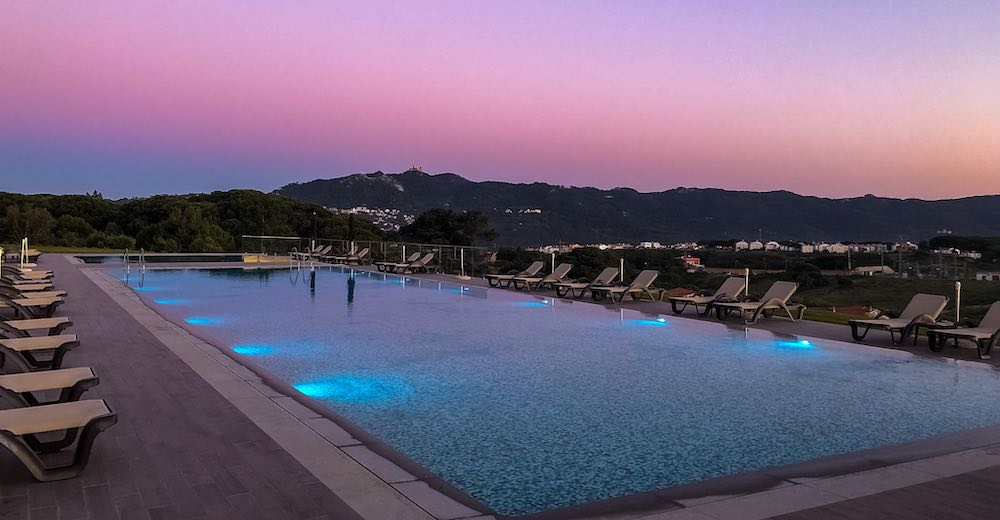 Pool views at the Vila Gale Sintra hotel