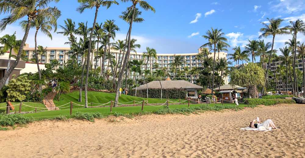 Westin Maui Resort and Spa is one of the hotels on Maui Kaanapali beach