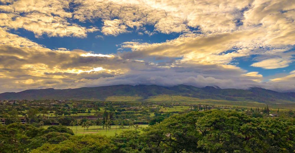 West Maui mountains during sunrise