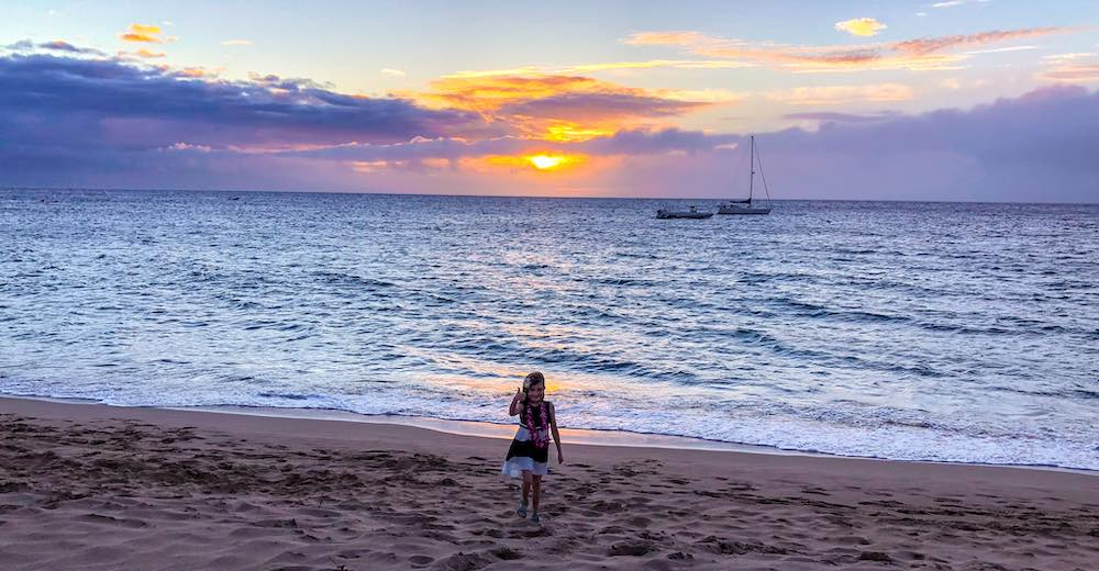 Ka'anapali beach is one of the best Maui beaches for watching the sunset
