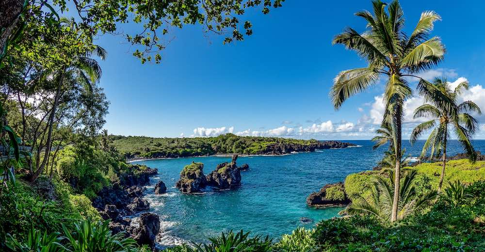 Wai'anapanapa State Park is one of the most popular Maui Road to Hana stops