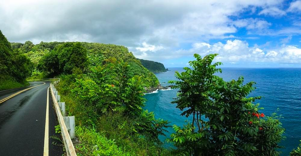 Many curves between the Road to Hana best stops