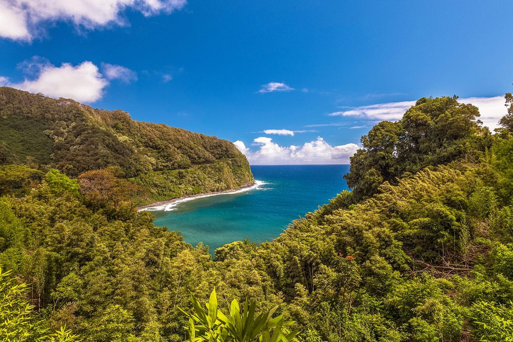 Honomanu bay is one of the spectacular Road to Hana stops