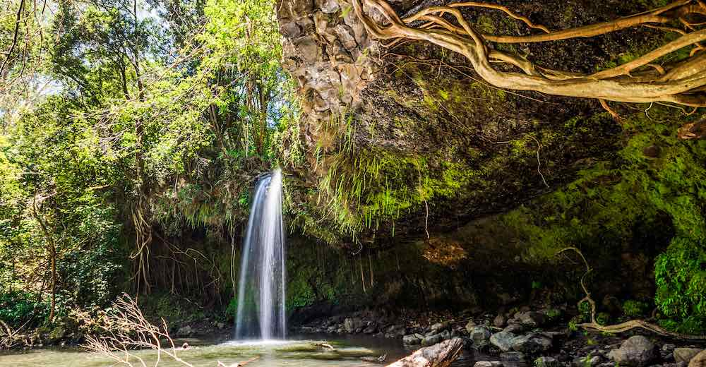 Twin Falls is the first Road to Hana stop and one of the most popular Road to Hana waterfalls
