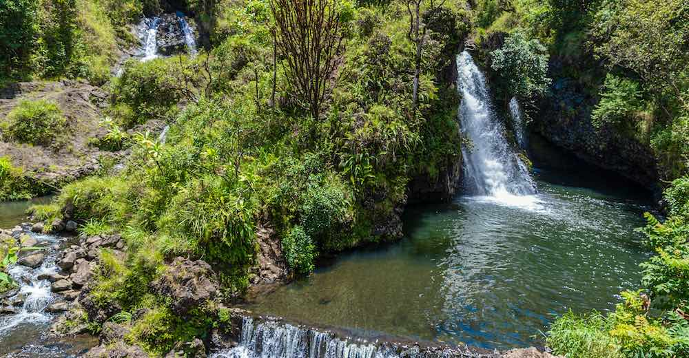 One of the best Road to Hana waterfalls