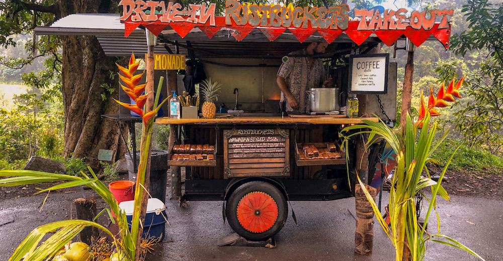 Food stall on the Road to Hana on Maui
