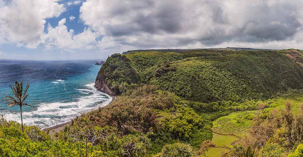 The Pololu Valley hike counts as one of the most scenic Big Island hikes