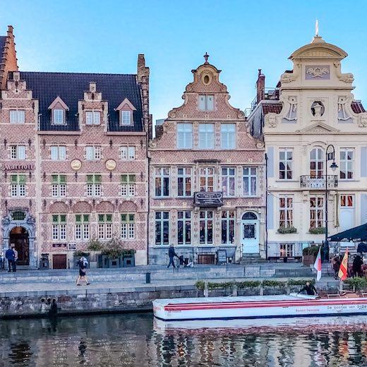 Korenlei in Ghent Belgium