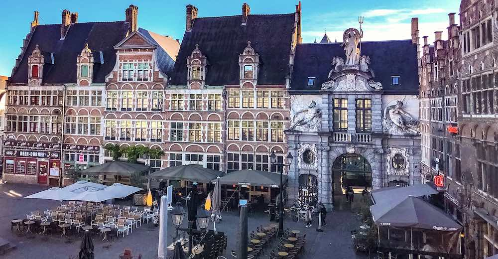 Sint-Veerleplein in Ghent Belgium