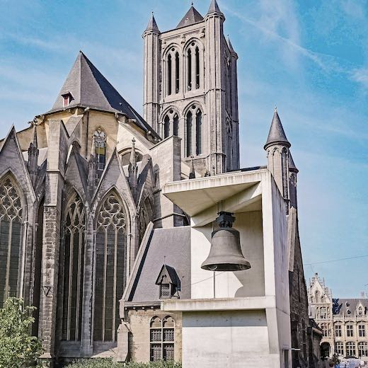 Bell Roland is still on display next to the Ghent Belfry