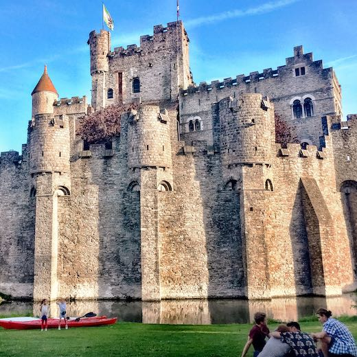 Visiting the Castle of the Counts is one of the most fun things to do in Ghent Belgium