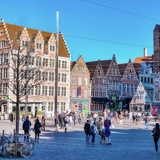Korenmarkt in Ghent Belgium