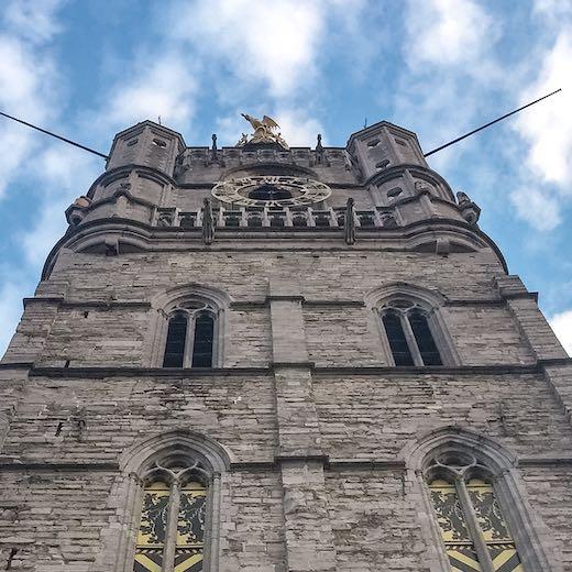 Tower of the Belfry in Ghent Belgium