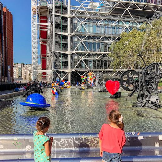 Stravinsky fountain at Beaubourg in Paris