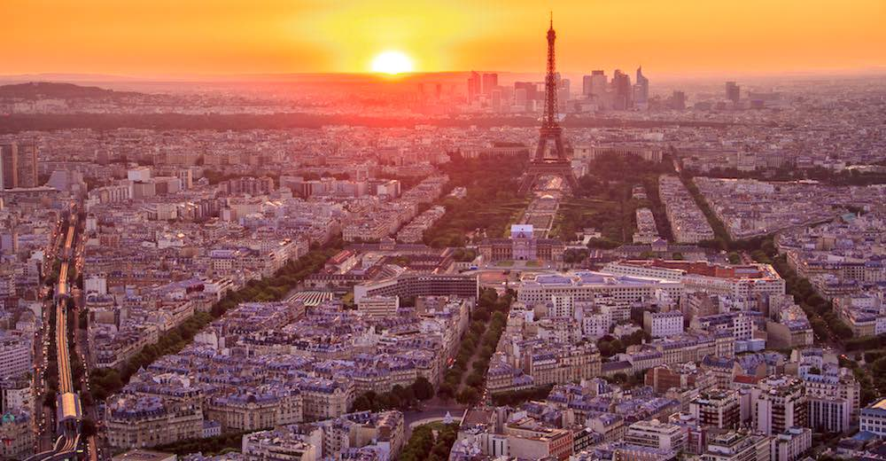 Paris skyline from the Montparnasse Tower Panoramic Observation Deck