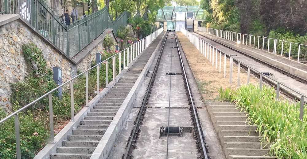 Funicular at the Sacre Coeur