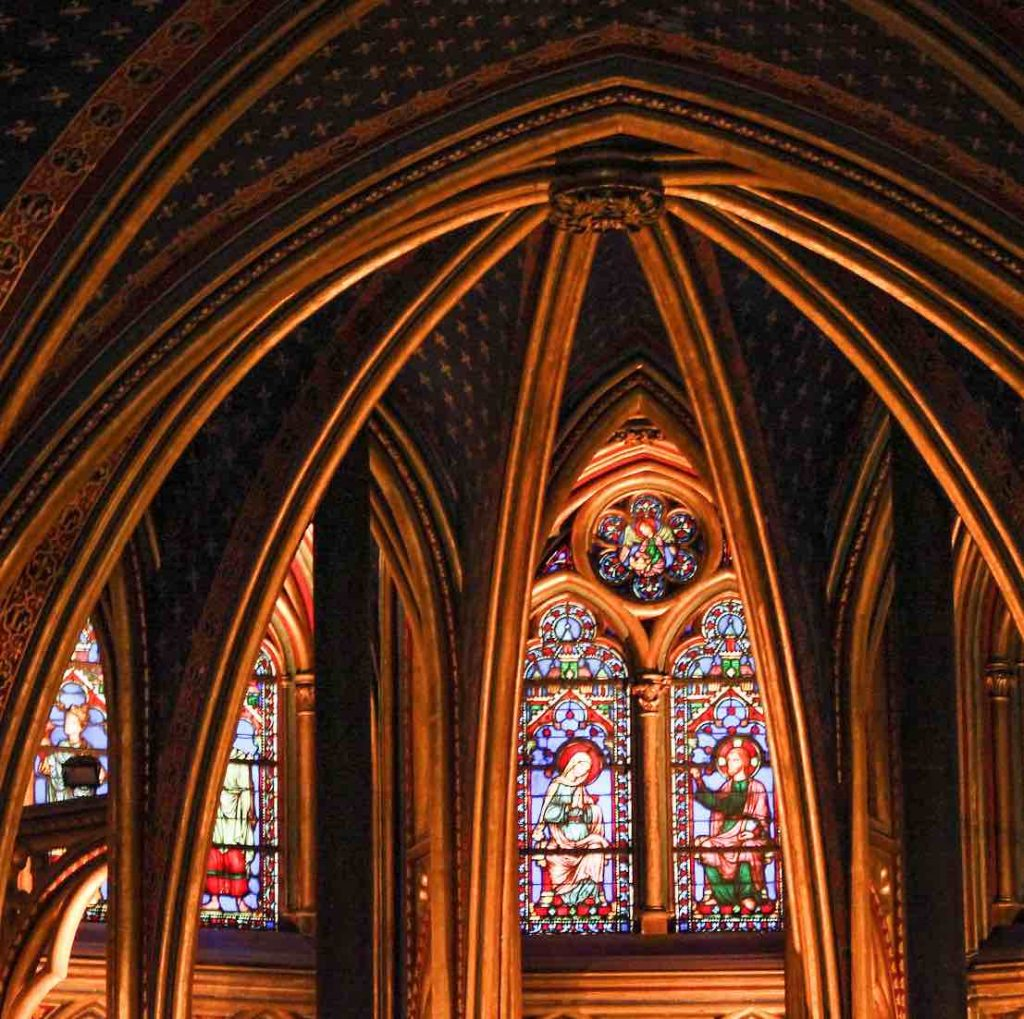 Stunning stained glass windows at the Sainte Chapelle