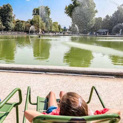 The Tuileries Garden is the perfect place to relax during your 3 day Paris itinerary