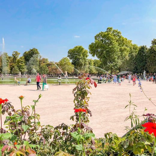 The Jardin des Tuileries is located just a 5 minute walk from The Louvre