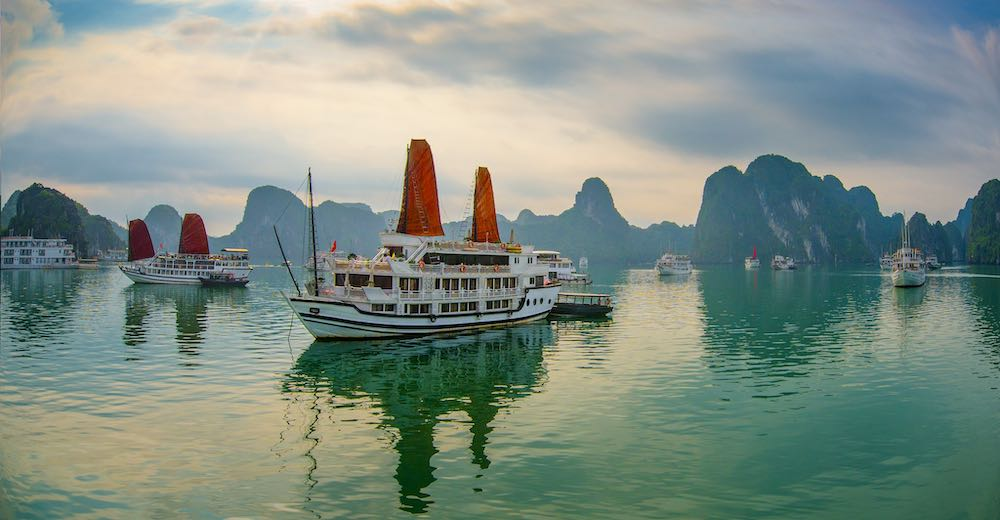 Most cruises include a Hanoi to Halong Bay shuttle transfer