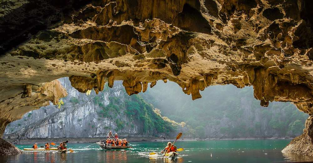 Kayaking on Halong Bay is included in most overnight tour packages