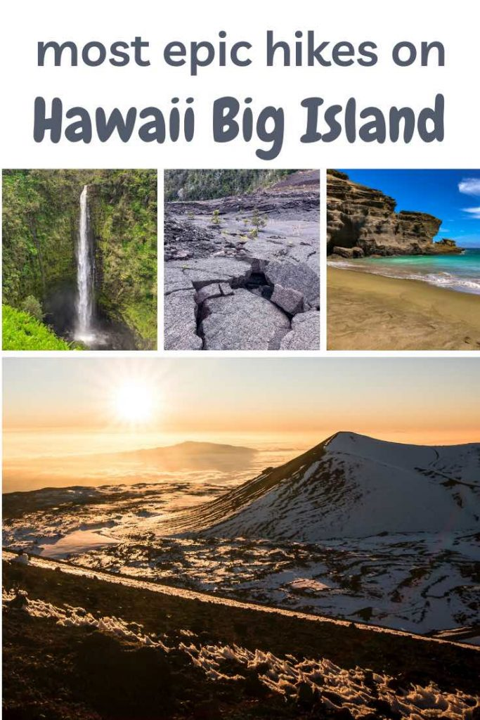 Discover the best hikes on the Big Island of Hawaii: volcano hikes, valley hikes, coastal hikes and waterfall hikes. #hawaii #hikes #hiking #bigisland #hawaiiisland #outdoortravel