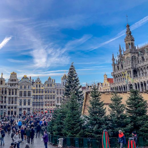 The most stunning of Brussels Christmas markets can be found at Grand Place