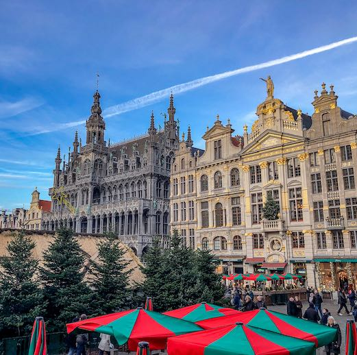 Christmas market in Brussels at Grand Place
