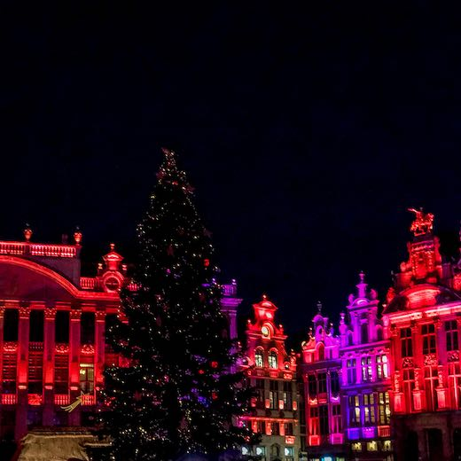 The Brussels Grand Place Christmas market is one of the most spectacular Belgium Christmas markets