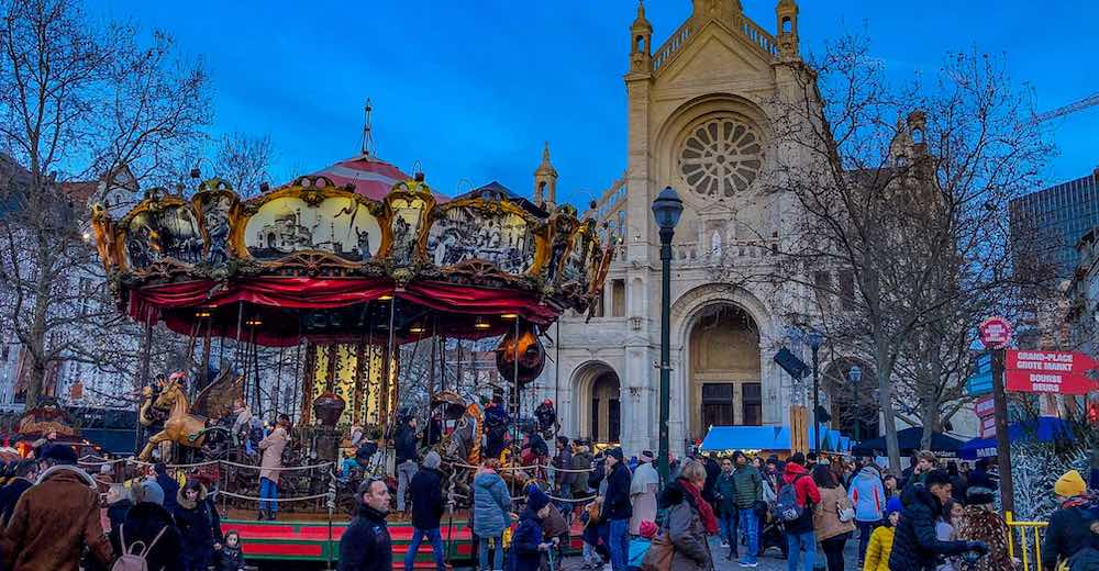 Family fun in Brussels in winter