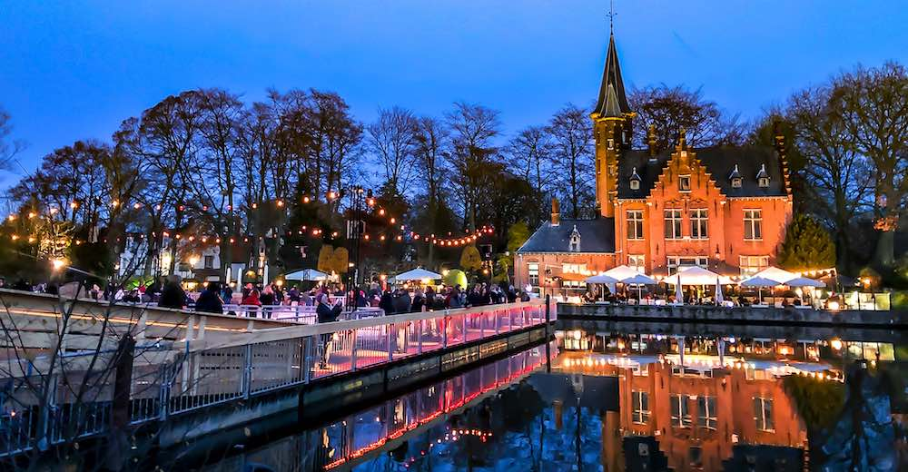 Newest Bruges Christmas market location at Minnewater