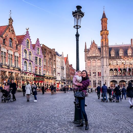 Me and my daughter celebrating Christmas in Bruges
