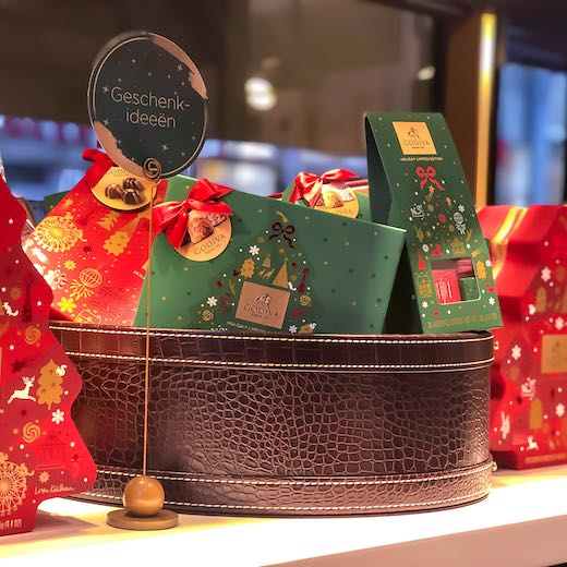 Belgian chocolate is beautifully wrapped during the Belgium Christmas period