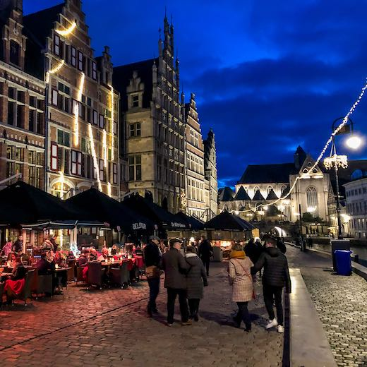 Graslei and Korenlei during the Ghent Christmas market 2019