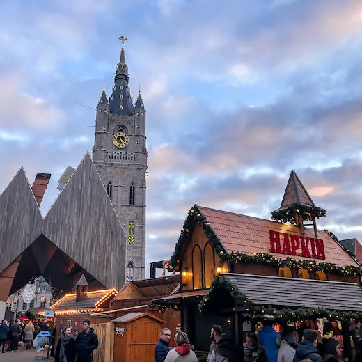 Botermarkt is one of the most popular sites during the Ghent xmas market