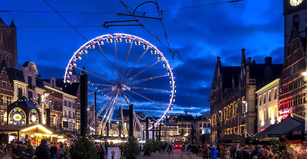The Korenmarkt is one of the highlights in this Ghent Christmas market review