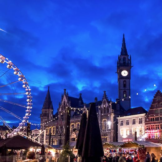 Christmas market Ghent is one of the  most magical of Belgium Christmas markets