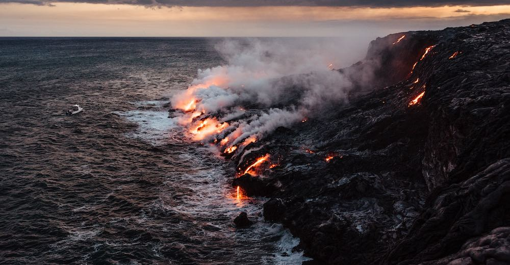 Seeing the lava flow in the ocean is one of the top things to do Big Island Hawaii