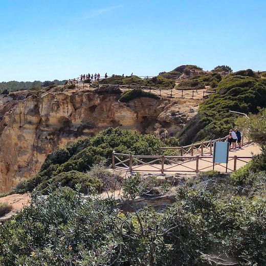 Praia da Marinha is the starting point for the Seven Hanging Valleys hike to Carvoeiro Algarve Portugal